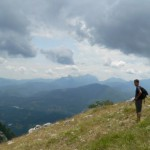 quasi in vetta, panorama sulla Garfagnana