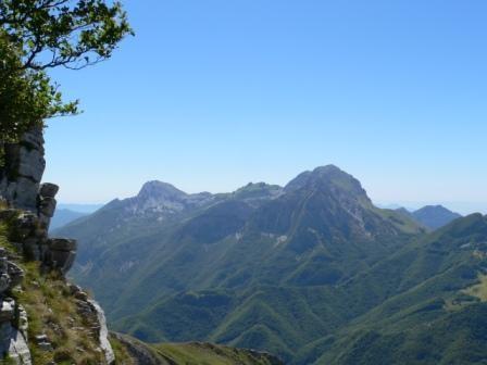 vista verso sud dalla prima finestra di cresta