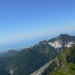 panorama verso il m.Altissimo e il mare