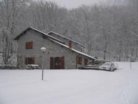 rifugio sotto la neve