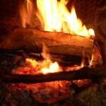fuoco nel camino