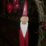 Babbo Natale sulla porta d'ingresso