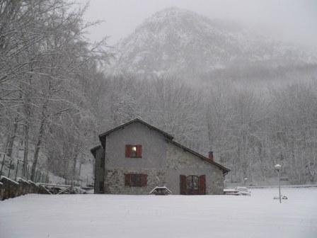 sotto la nevicata il 3 gennaio 2008